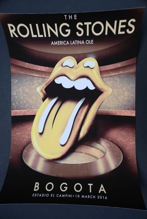 Rolling Stones - America Latina Olé Tour | Bogota Estadio Campin | 10 March 2016 - Poster - 2016/2016