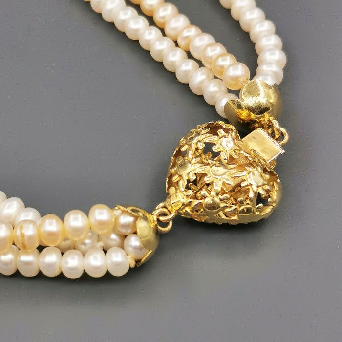 18 kt. Yellow gold - Necklace Perle