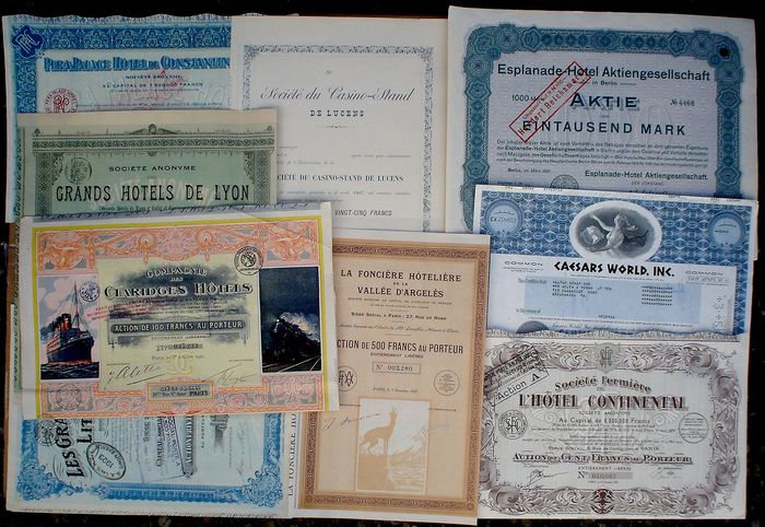 Stock Certificates (10) - Hotels and Casinos