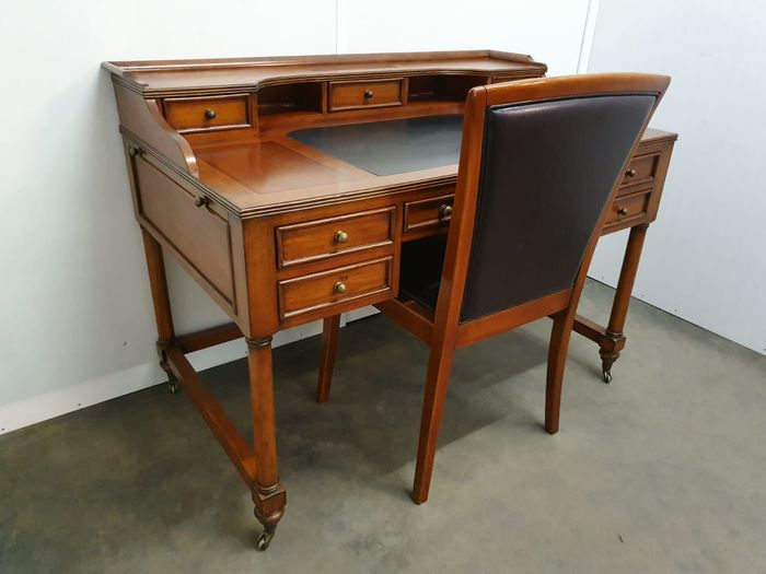 Writing desk, Cherry wood desk with chair