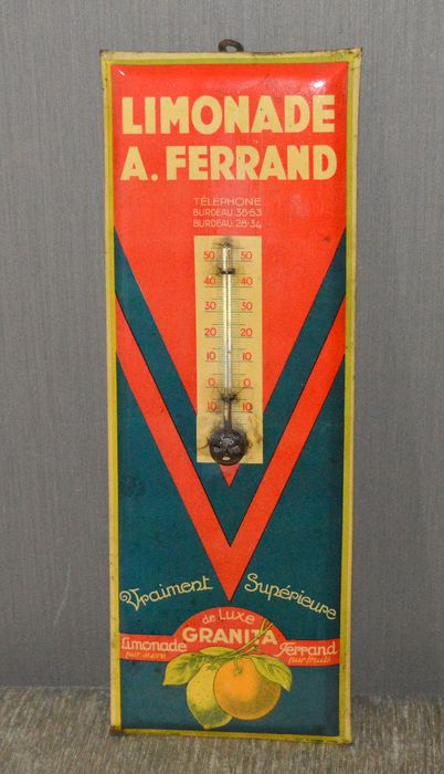 Limonade A.Ferrand advertisement thermometer  (1) - Metal