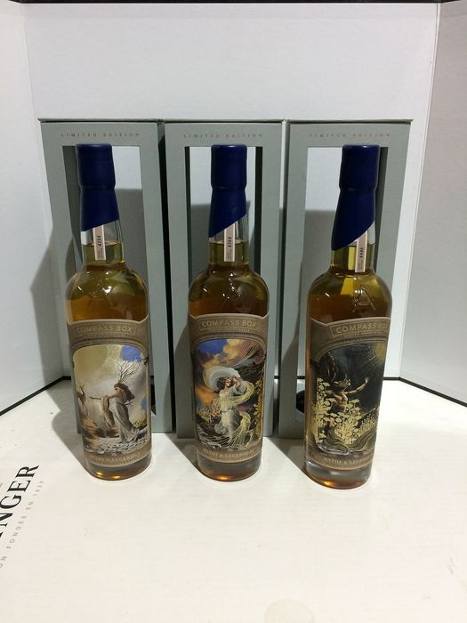 Compass Box Myths & Legends - Set - One of 4394 + One of 4564 + One of 4446 - 70cl - 3 bottles