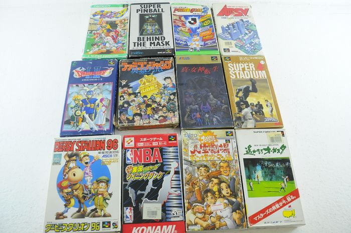 Nintendo Super Famicon (Jap Nes) - Video games (12) - In original box