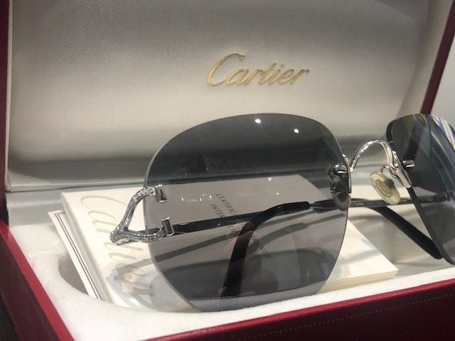 Cartier - Diamond C Decor Custom Gafas de sol