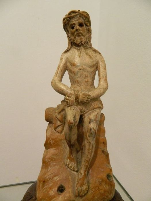 Christ on the cold stone, - Gothic - Wood - Late 15th century