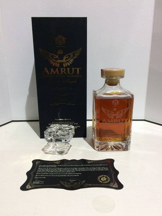 "Amrut ""Greedy Angels"" 10 years old, Limited Edition to 900 bottles in the World - 70cl"