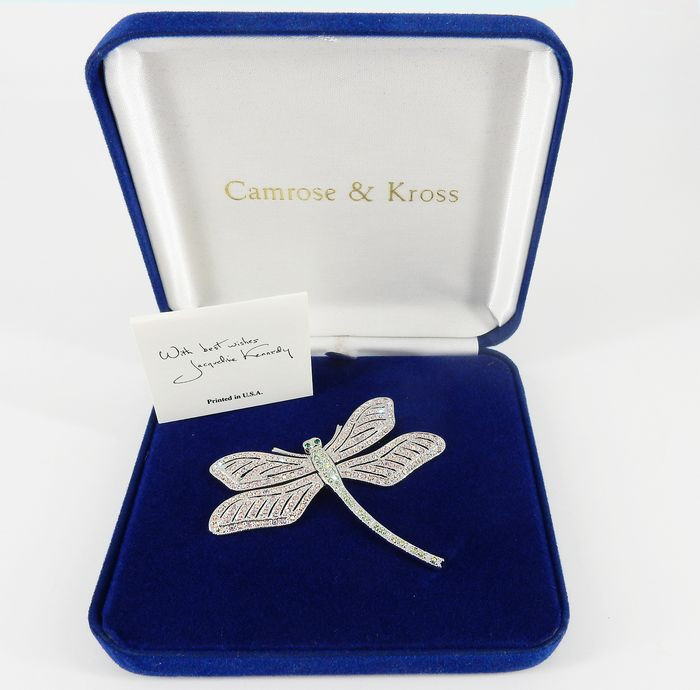 Camrose & Kross - Jacqueline Kennedy Collection - 22 carats Plaqué or, Cristaux Swarovski - Broche