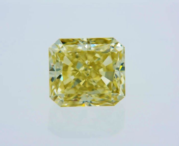 1 pcs Diamond - 1.03 ct - Radiant - fancy brownish yellow - VVS1