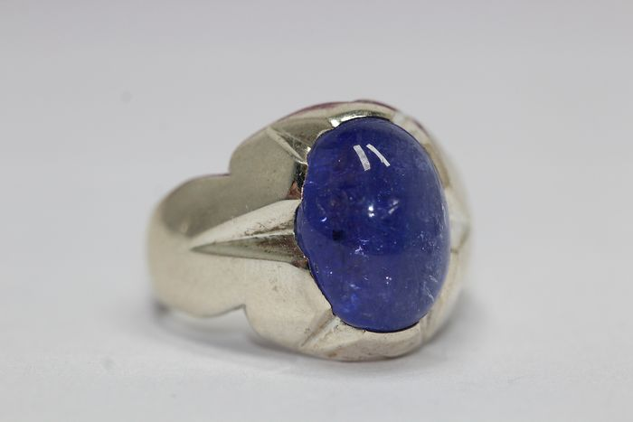 925 Silver - Ring - 25.00 ct Sapphire