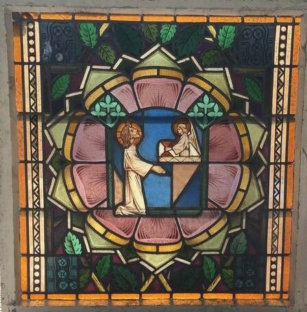Glass object, Window, Religious subject - Glass (stained glass)