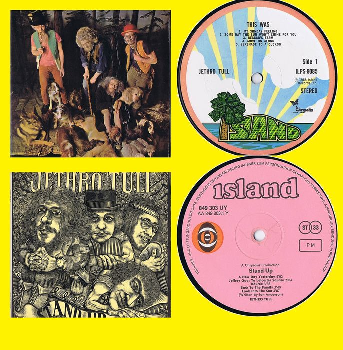 Jethro Tull - 1. This Was (1968) 2. Stand Up (1969) - Multiple titles - LP's - 1968/1969