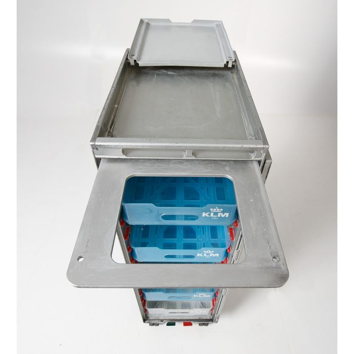 Driessen aircraft interior systems  - KLM  - Half size Trolley with 4 original drawers