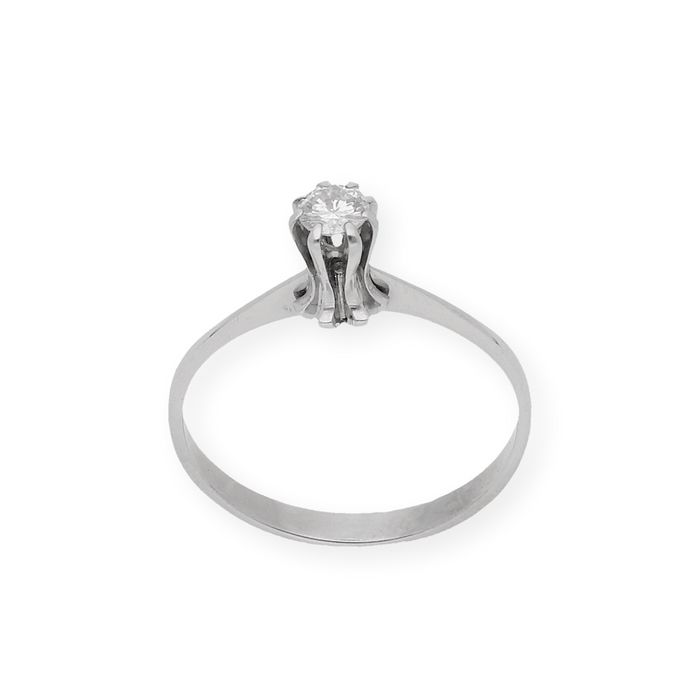 18 kt. White gold - Ring - 0.30 ct Diamond