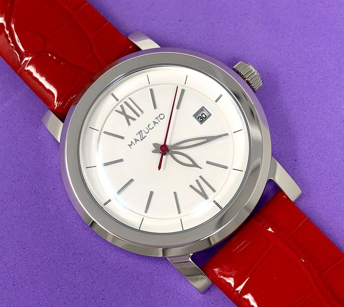 Mazzucato - Ego Maniac White Dial Customisable with Three Straps and Three Cases - E.G.O.003SILVER - Damen - Brand New