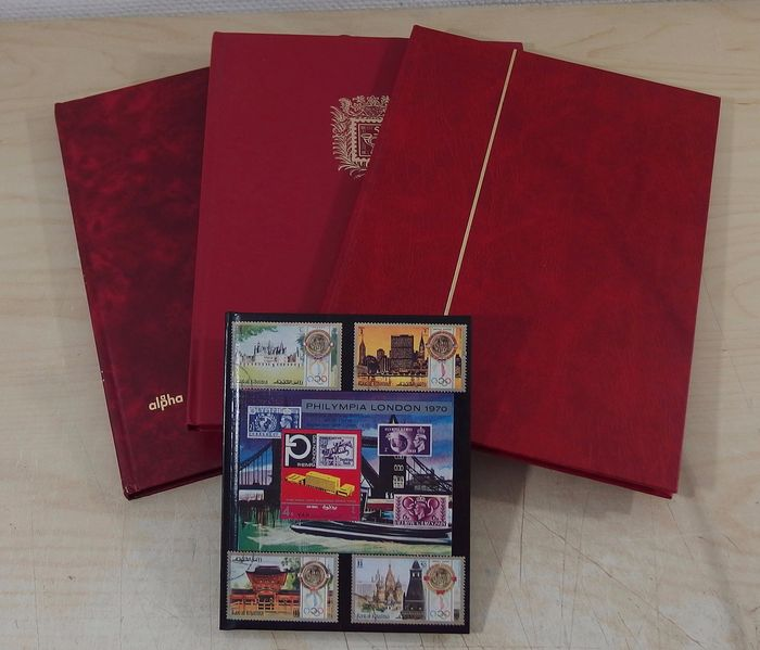India - Unsorted lot from classic to modern in 4 stock booklets