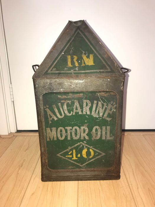 Oil can - Aucarine motor oil - Original 1930s oil can - 1930-1940