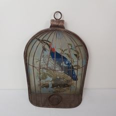 A decorative wall-mounted birdcage - Made out of cast- and wrought-iron