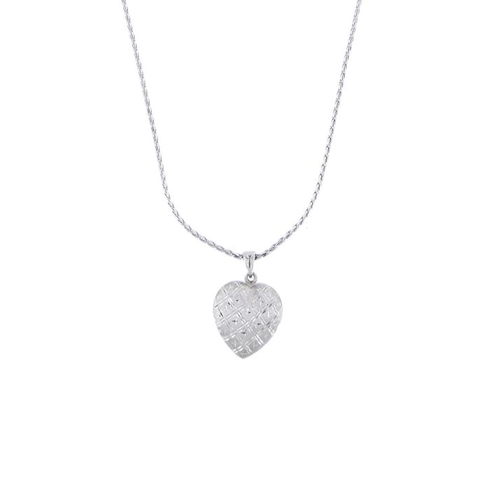 Made in Italy - 14 kt. White gold - Necklace with pendant