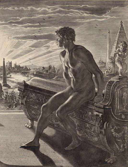 Abraham van Diepenbeek, after, 1733 - The Statue of Memnon
