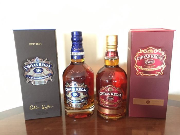 Chivas Regal Gold Signature 18 year old & Extra - 70cl - 2 bottles