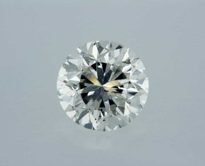 1 pcs Diamond - 1.02 ct - Round - F - SI1