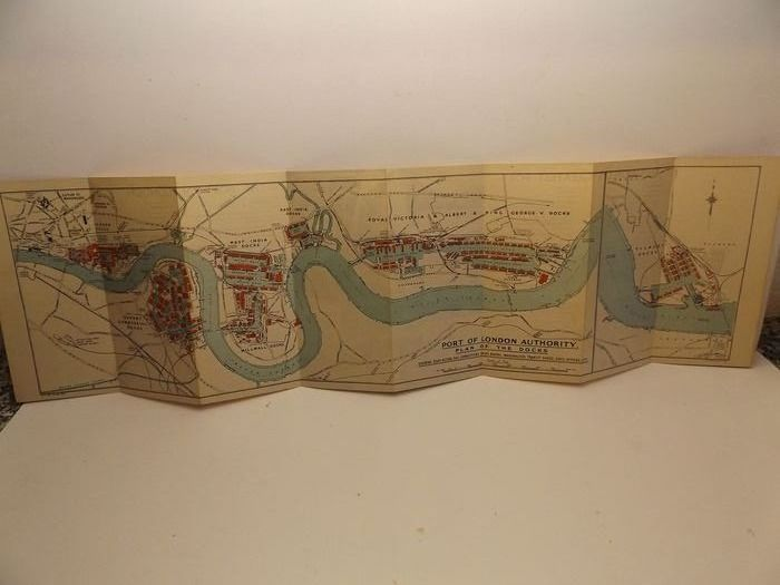 U.K., London; P.L.A. Authority - Port of London - plan of the Docks - 1951-1960