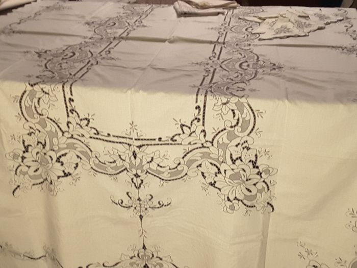Tablecloth with napkins (14) - Cotton