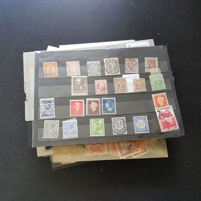 Netherlands 1852/1970 - Compilation on cards and in bags