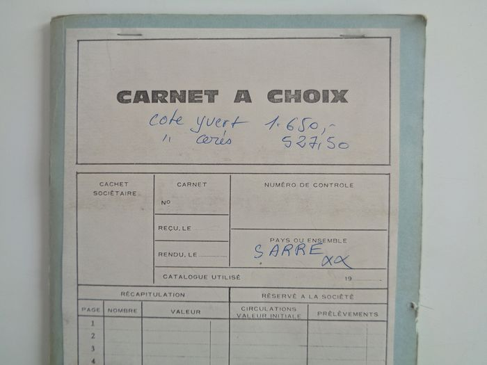 Colonia francesa 1947/1955 - Collection of Sarre in a choice booklet - Yvert Entre n°196 et 341