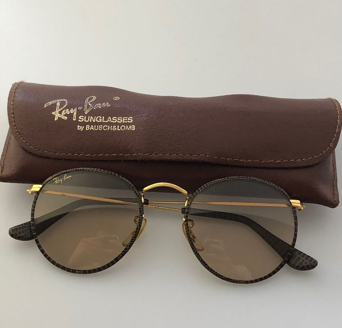 Ray-Ban - Round Leathers Zonnebril