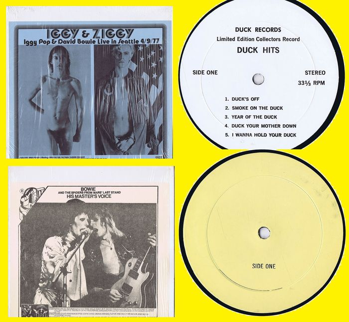 David Bowie: 1. Bowie* And The Spiders From Mars* – Last Stand: His Master's Voice (1973) - 2. Iggy & Ziggy (with Iggy Pop) (1977)  - LP's - 1974/1977