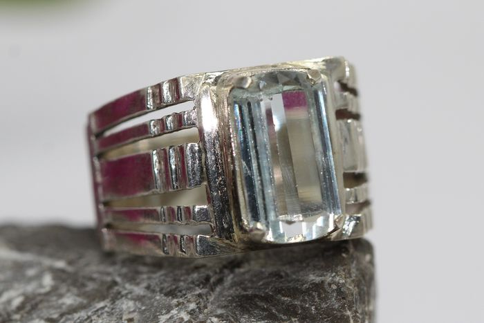 925 Silver - Ring - 5.00 ct Aquamarine