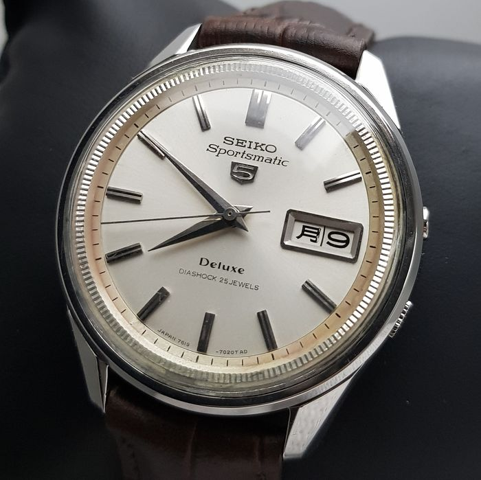 Seiko - 'NO RESERVE PRICE' Sportsmatic 5 Deluxe JDM Automatic RARE Vintage Men - 7619-7010 - Mænd - 1960-1969