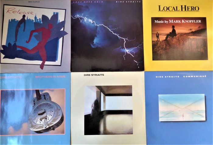 Dire Straits & Related - Six great albums - Multiple titles - LP's - 1978/1985