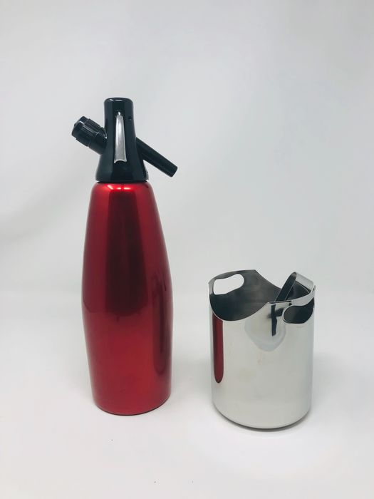Motta, Cimas - Seltz and ice-holder with pliers - Aluminium, Plastic, Steel (stainless)