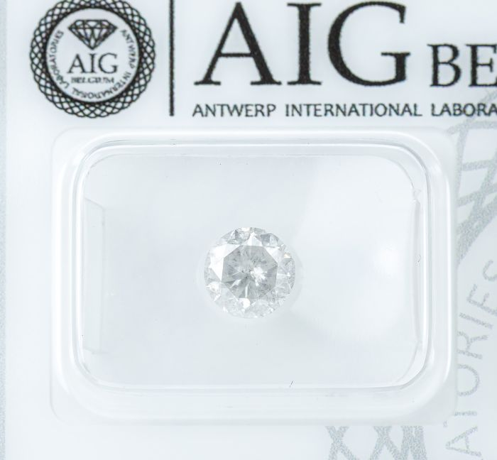 Diamant - 1.02 ct - Natural White - G color - I2  *NO RESERVE*