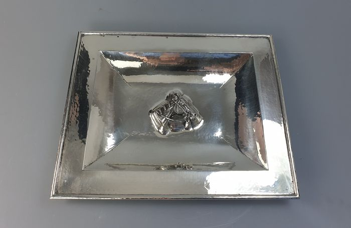 tray - .915 silver - Portugal - mid 20th century