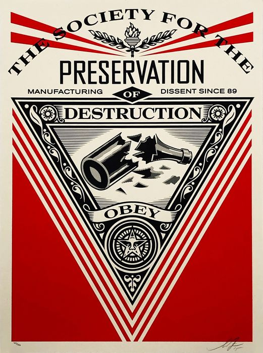 Shepard Fairey (OBEY) - 'Society of Destruction'