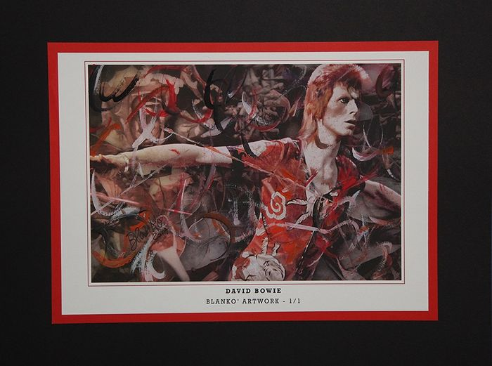 David Bowie - Technical Artwork Mixed Acrylic 1/1 - Signed Blankò - 2019