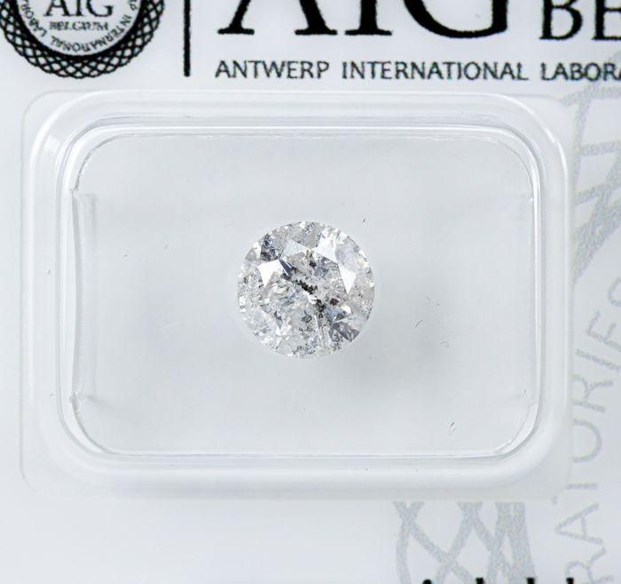 Diamant - 1.06 ct - Natural White - G color - I2  *NO RESERVE*