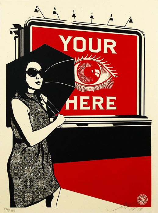 Shepard Fairey (OBEY) - 'Obey Billboard (eye)'