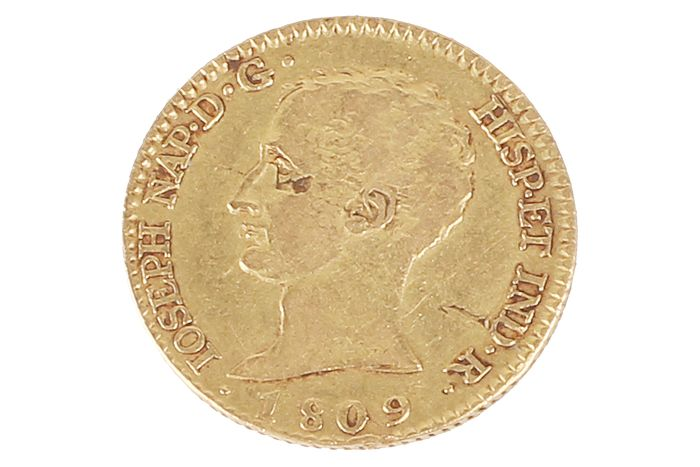 Spain - Madrid - 80 Reales 1809 - Jose Napoleón - Gold