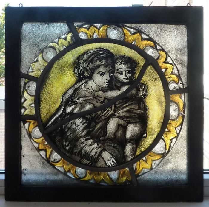 Jan Verhallen - window hanger - Mother with Child - Stained glass