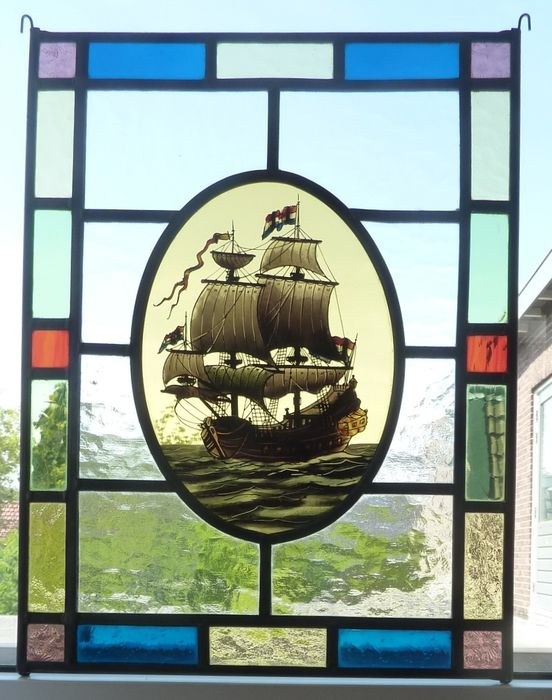 "window hanger ""VOC-ship"" - Stained glass"