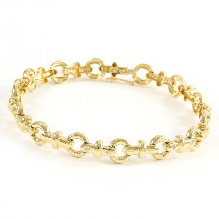 14 kt Gelbgold - Armband - 0.35 ct Diamant