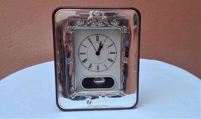 Pendulum table clock - .925 silver