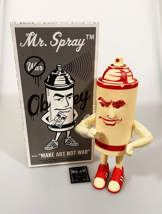 Shepard Fairey (OBEY) x Strangeco - 'Mr. Spray' Collectible Figure