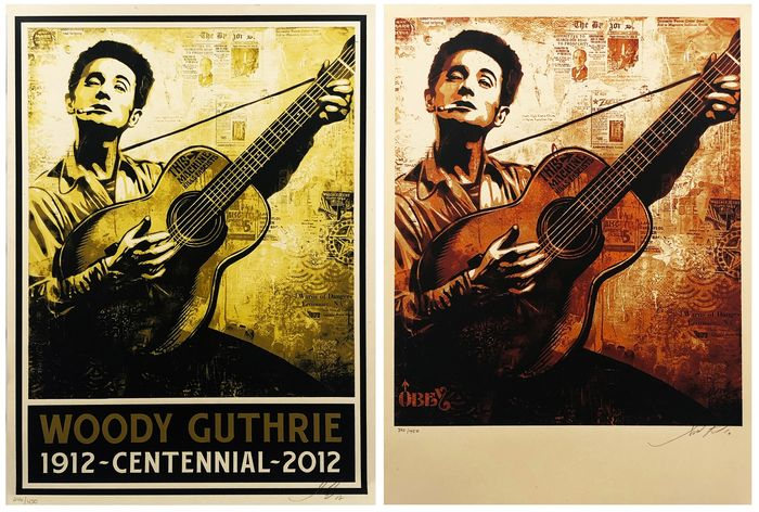 Shepard Fairey (OBEY) - 'Woody Guthrie' (Pair)
