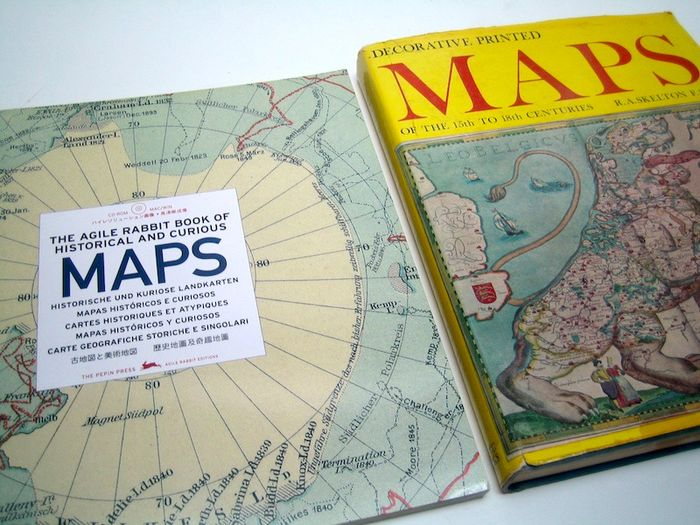 World, All Continents; Worldwide cartographers - The Agile Rabbit Book of Historical and Curious Maps + Decorative Printed Maps of the 15th to 18th c - 1000-2000