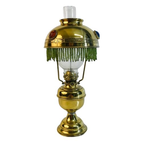 "Brevete - Authentic petroleum lamp ""Brevete L&B 1893"" - Brass, Crystal"